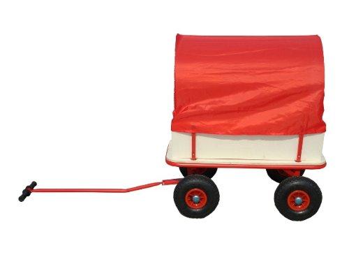 Bollerwagen für die Vatertagstour mit Plane Luftreifen