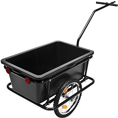 Fahrradanhaenger-mit-Kunststoffwanne Handwagen